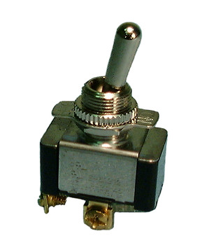 SPST, ON-OFF, 20a HD Bat Handle Toggle Switch w/Screw Terminals