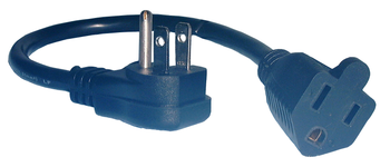 Right Angle Mini Extension Cord-12 in.