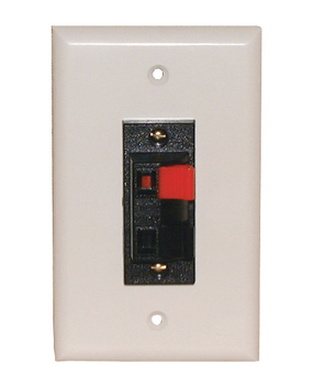 2-Cond. Speaker Terminal Wall Plate