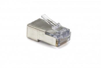 EZ-RJ45 Cat5e/6 Shielded Modular Plugs w/Internal Ground, 10/pkg.