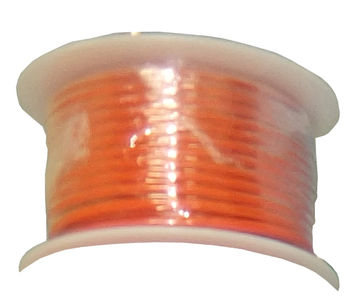 Stranded Copper Wire - 18 AWG - 100' - ORANGE