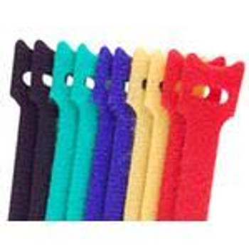 6-in. Hook/Loop Cable Ties 10/pk. Multi