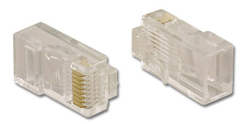 Modular Plug 8P8C For Round 2 Prong RJ45 CAT5/6 Connector For Stranded Twisted Pair Cable