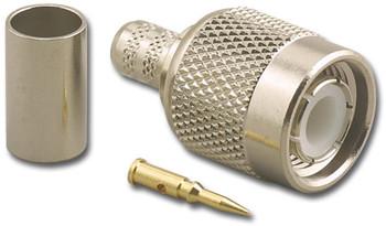TNC 3pc Crimp Plug Connector - RG-59 RG-62