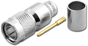 TNC 3-Piece Crimp Plug for RG-11 75 Ohm
