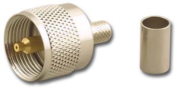 UHF Crimp Plug for RG59/U 62/U