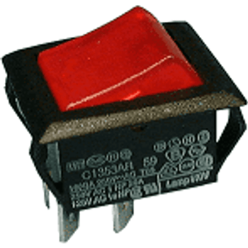 DPST ON-OFF Lighted Rocker Switch