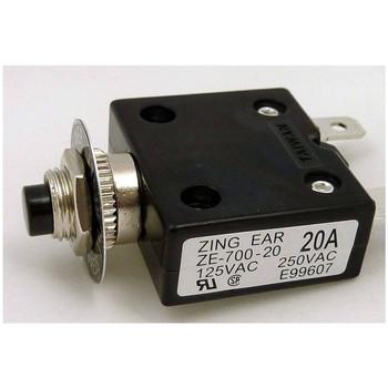 Push Button Thermal Circuit Breaker - 20 Amp