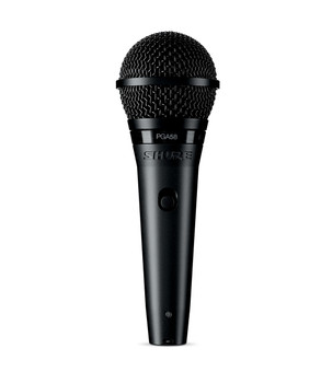 Shure PGA58-LC Cardioid Dynamic Vocal Microphone w/ On-Off
