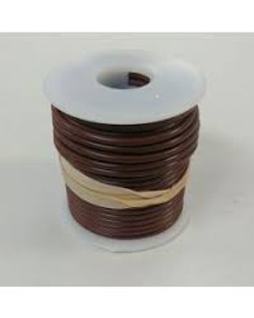 Stranded Copper Wire - 18 AWG - 100' - BROWN