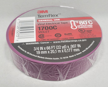 3M™ 3M1700C, Temflex™ Vinyl Electrical Tape 1700, Violet