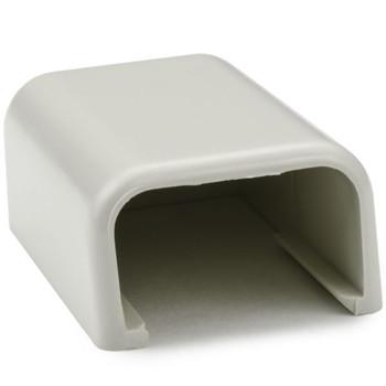"End Cap, 3/4"", PVC, Office White"