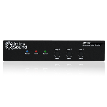 Atlas Sound MA40G 3-Input, 40-Watt Mixer Amplifier