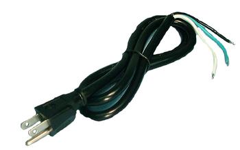 AC Cord - 6' 16AWG Black NEMA 5-15P Plug