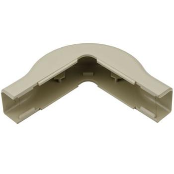 "External Corner Cover, 3/4"", 1"" Bend Radius, PVC, Ivory"