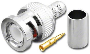 BNC For RF-8X Mini 8, 3-pc Crimp Plug