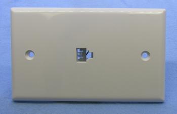 Modular Telephone Wall Plate, WHITE