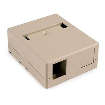 2 Port Surface Mount Box - IVORY