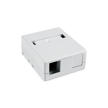 2 Port Surface Mount Box - WHITE