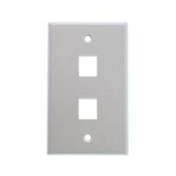 2 Port Gray Wall Plate