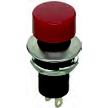 SPST, OFF-(ON) Round Red Pushbutton Switch