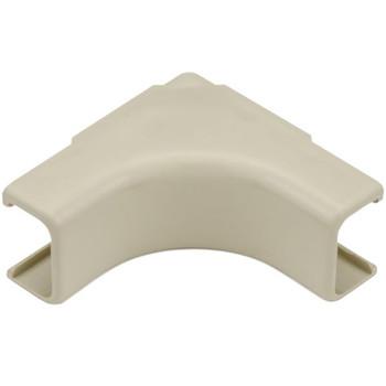 "Internal Corner Cover, 3/4"", 1"" Bend Radius, PVC, Ivory"