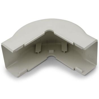 "External Corner Cover, 1-3/4"", 1"" Bend Radius, PVC, Office White"