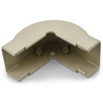 "External Corner Cover, 1-3/4"", 1"" Bend Radius, PVC, Ivory"
