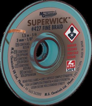 5 ft SUPERWICK - #5 BROWN No-Stat 0.125i