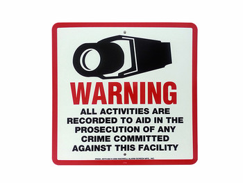 "10.5"" x 10.5"" CCTV Warning Sign"