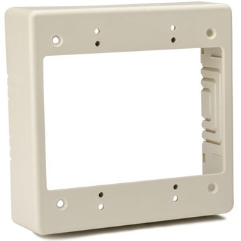 "Dual Gang Junction Box, 1-1/2"" Deep, PVC, Ivory"