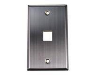 1-Port Stainless Steel Wall Plate