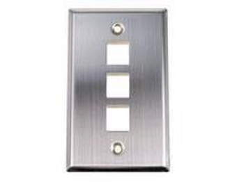 3-Port Stainless Steel Wall Plate