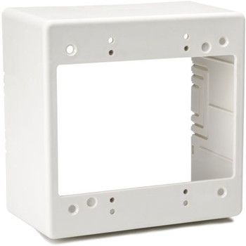 "Dual Gang Junction Box, 2.77"" Deep, PVC, Office White"