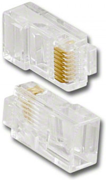 Modular Plug 8P8C RJ45 For Solid Wire