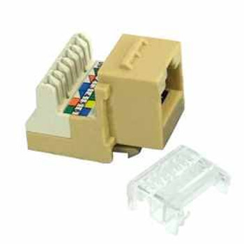Cat3 Single Row 6P6C Voice Jack RJ11, Ivory
