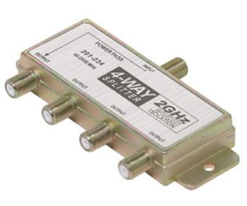 4-Way Satellite Splitter - Antenna Splitter - F Connector to F Connector