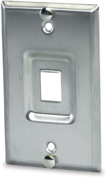 1-Port Stainless Steel Keystone Wall Mount Phone Plate