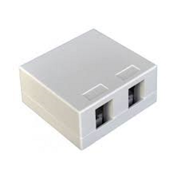 2 Port White Surface Box