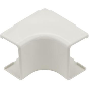 "Internal Corner Cover, 1-3/4"", 1"" Bend Radius, PVC, Office White"