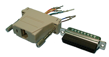RJ45 to DB25M Interface Adaptor