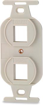 2-port 106-type Keystone Adaptor - White