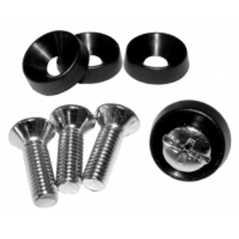 10-32 Countersunk Rack Screw with Plastic Cup Washer, 4 each