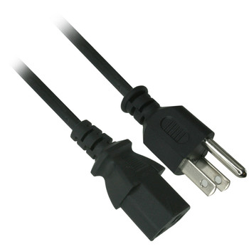 1 ft. C13 Straight AC Power Cord