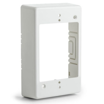 "Single Gang Junction Box, 1-1/4"" Deep, PVC, Office White"