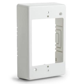 "Single Gang Junction Box, 1-1/4"" Deep, PVC, Office White"