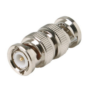 BNC Plug to Plug Adapter, Inline Splice Coupler, BNC Male to BNC Male