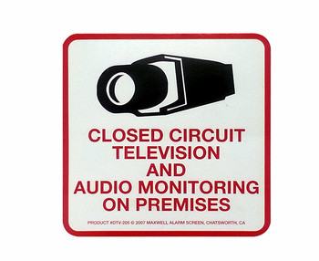 "Decal - 4"" x 4"" CCTV Warning Sticker"