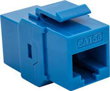 Cat 5e RJ45 Keystone Feed-Thru - BLUE