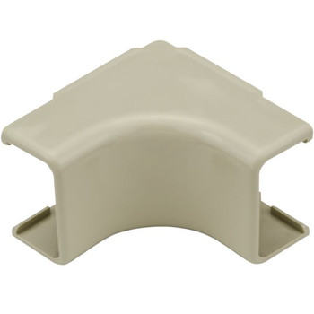 "Internal Corner Cover, 1-1/4"", 1"" Bend Radius, PVC, Ivory"